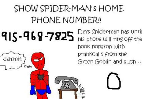 show spider s home phone number