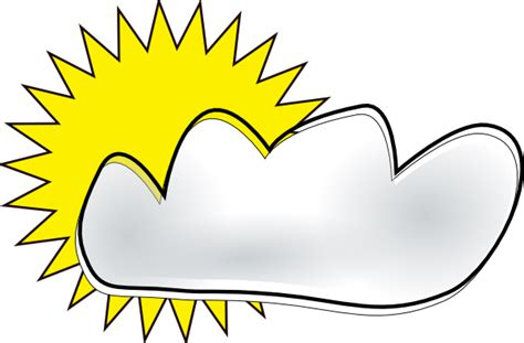 Partly Cloudy Clipart partly cloudy clip at clker vector clip