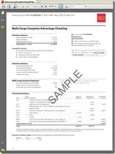 Wells fargo bank statements best template collection