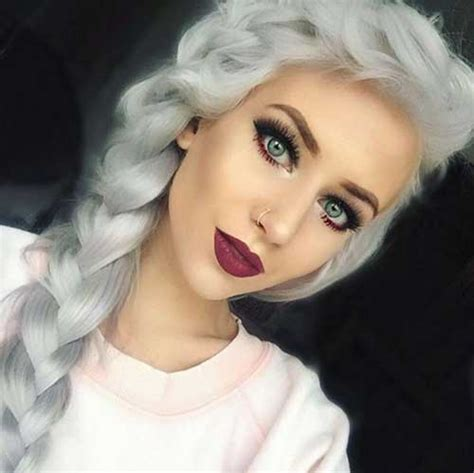 hair cuts for white hair 25 new gray hair color long hairstyles 2016 2017