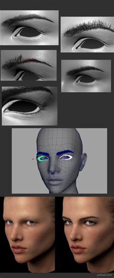zbrush eyelashes tutorial http www zbrushcentral com showthread php 191358