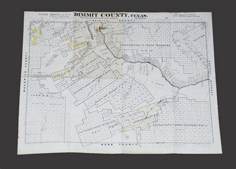 dimmit county texas map dorothy sloan books auction 22