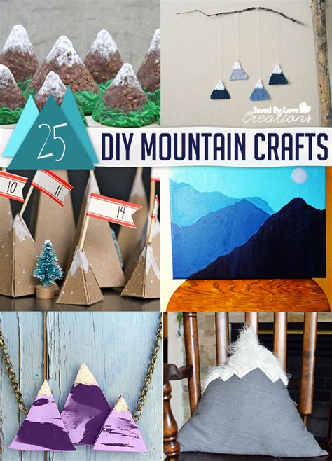 How To Make Mountains Out Of Construction Paper - 25 diy mountain crafts and decor tutorials