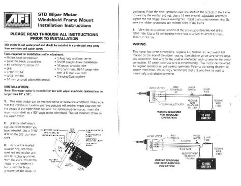 windscreen wiper motor wiring diagram efcaviation