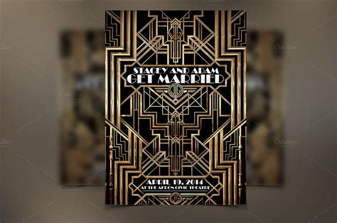 the great gatsby flyer weddings flyer templates on