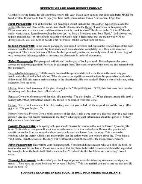 7th grade book report outline best photos of 7th grade book report template 7th grade