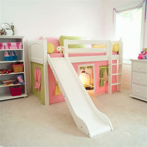 Beds With Slides by Marvelous Tent Low Loft With Slide Bunk Beds Loft