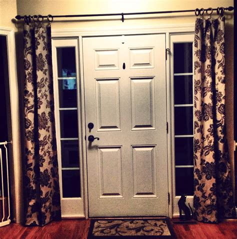 Curtain For Front Door Glass Front Door Curtains Home Design Ideas