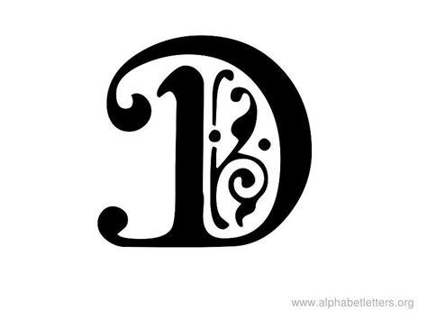 printable letters script letter d   Alphabet Letters D ... D Alphabet Design