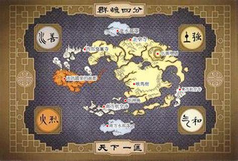 labeled avatar world map  hawairishman  deviantart