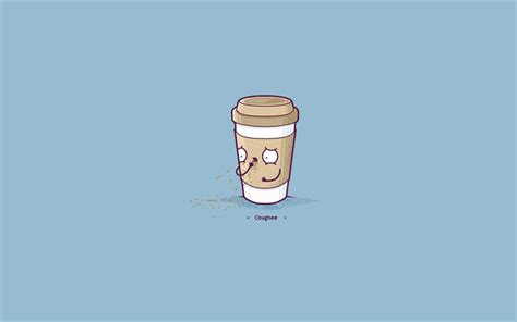 wallpaper coffee cartoon download wallpapers coffee cup minimal blue background