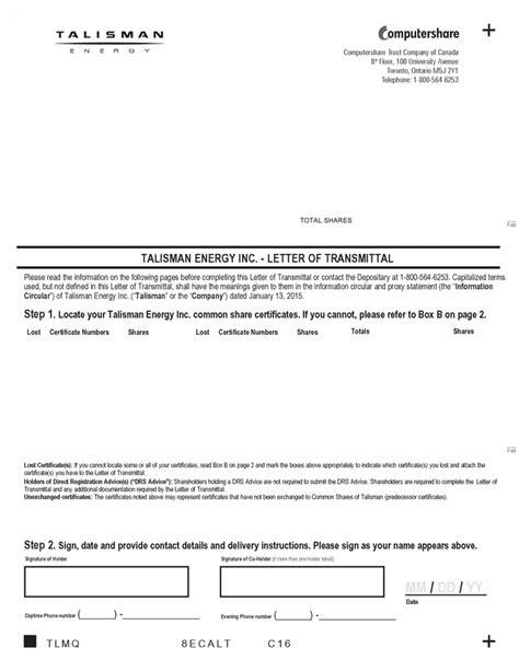Transmittal Letter Tax Exhibit99 5