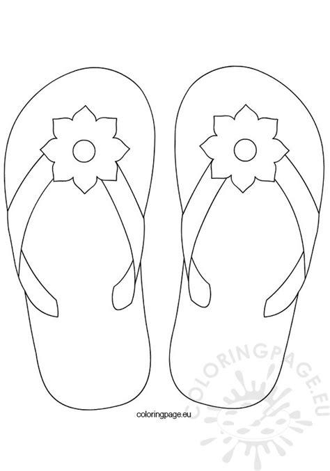 flip flop template flower flip flop coloring page