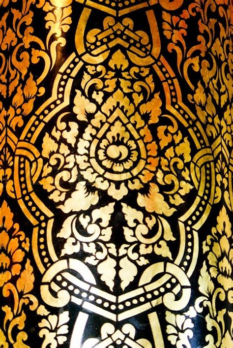 thai pattern history traditional thai fine art on a window and door pattern