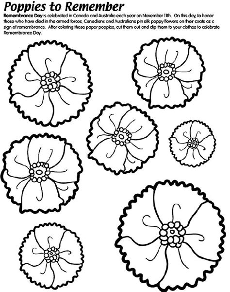 printable poppy leaves poppies to remember coloring page clip art printables