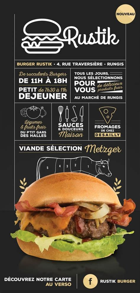 top bar burger menu burger menu flyer d 233 couverte cr 233 ation izipass restaurant branding black