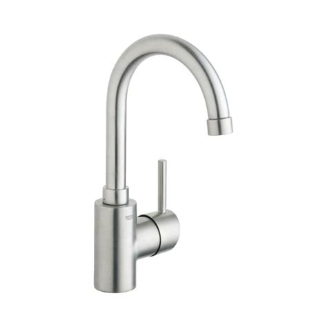 single hole bathroom faucet brushed nickel shop grohe concetto brushed nickel 1 handle single hole