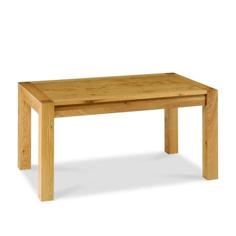 lyon oak fixed dining table furniture by design fbd