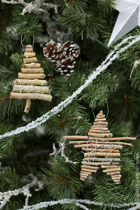 christmas tree made with twigs twig and wire ornaments make it and it