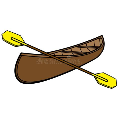 canoes vector canoe and paddles stock vector illustration of paddle