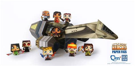 Firefly Papercraft - qmx free papercraft serenity and firefly cast mightymega
