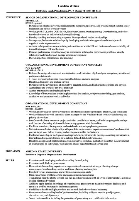 developing a resume exles organizational development resume exle food processing