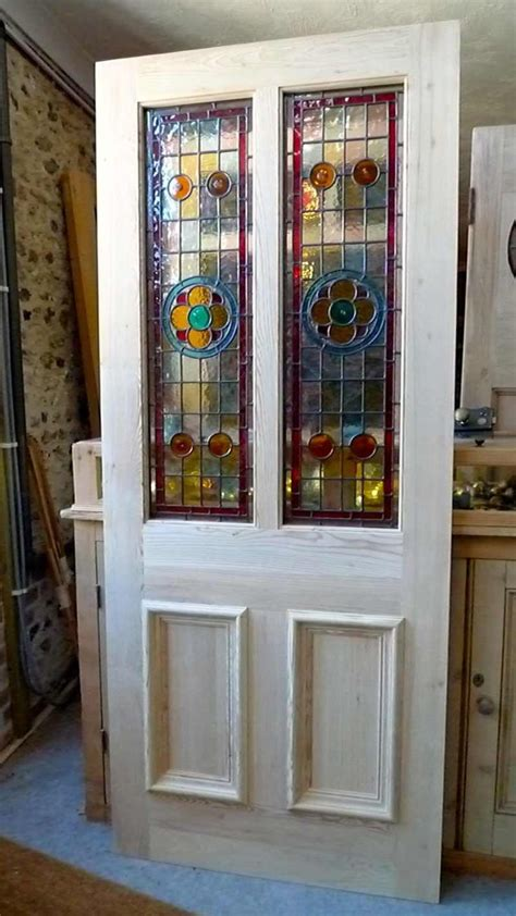 Stained Glass China Cabinet Doors   MF Cabinets