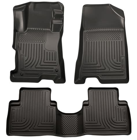 Honda Accord Floor Mats 2012 by Husky Weatherbeater All Weather Floor Mats For 2008 2012 Honda Accord Ebay