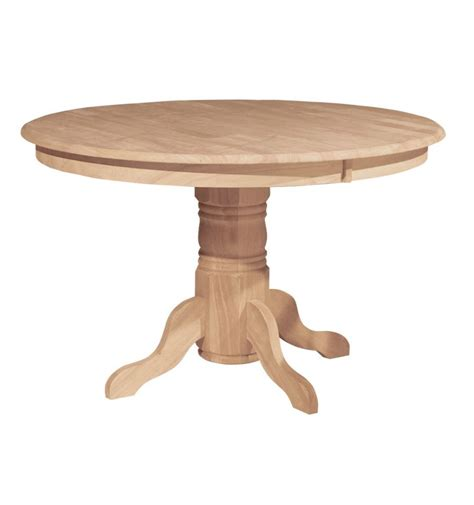 48 inch solid dining table bare wood wood