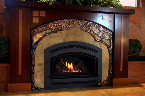 Fireplace In Chicago chicago driveway gates custom metal fabrication copper