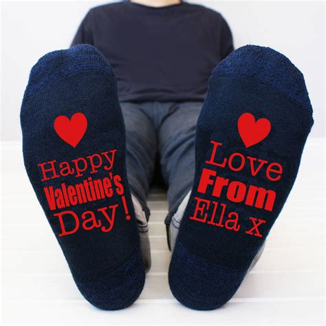 valentines mens personalised happy s s socks by sparks