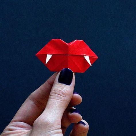 diy vire fangs diy origami fangs craft ideas