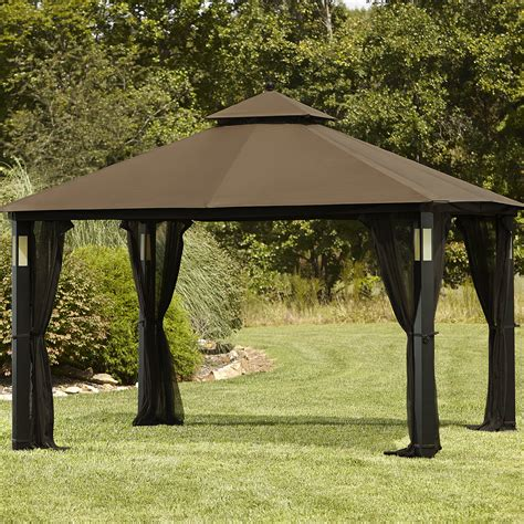 backyard canopy gazebo grand resort 10 x 12 lighted gazebo with integrated