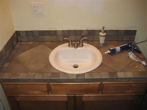 Bathroom Vanity Tile Countertop For The Home Pinterest Bathroom Countertop Ideas