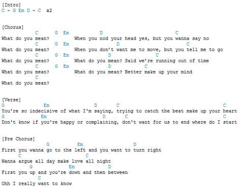 tutorial guitar what do you mean guitar guitar chords what do you mean guitar chords what