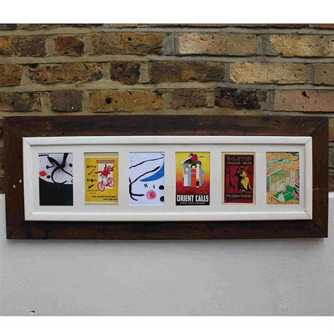 design multi photo frames reclaimed wooden multi aperture photo frame by m 246 a design