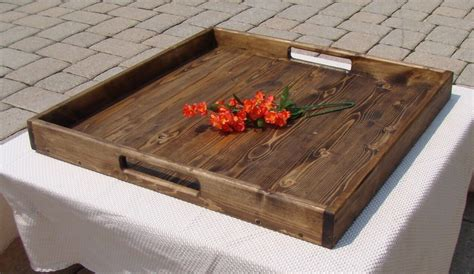 Large Wooden Tray For Ottoman Design Cape Atlantic