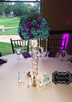 purple  turquoise wedding   teal table cover