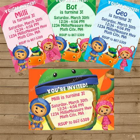 printable umizoomi invitations 25 best images about team umizoomi on pinterest birthday