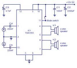 Tda1553 car stereo amplifier circuit audio wiring diagram