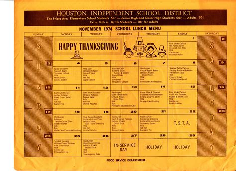 80s dinner menu what school lunch looked like each decade for the past