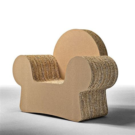 design armchair cardboard armrests idfdesign