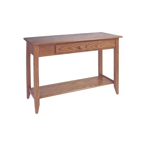 sofa tables with shelves shaker sofa table shelf w drawer amish crafted furniture