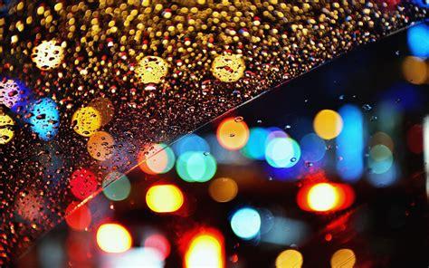 colorful night wallpaper glass rain drops bokeh lights night color window wallpaper