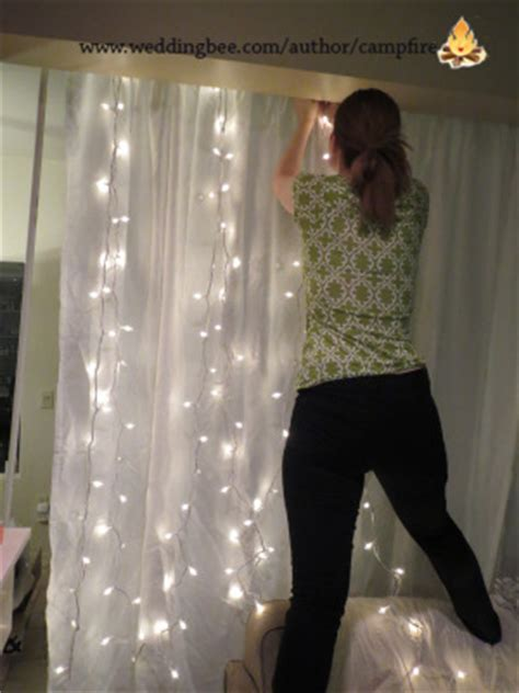 how to make a light curtain crafty creations booth backdrop weddingbee