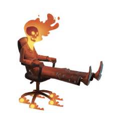 Ghost Desk Chair Ghost Rider Goes To The Office Alternate Universe Know