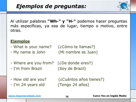 preguntas en ingles how are you 1 1 el verbo to be oraciones y preguntas con wh