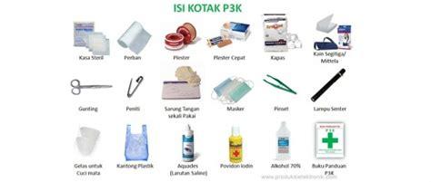 Kotak P3k Dan Isi daftar isi perlengkapan kotak p3k pertolongan pertama