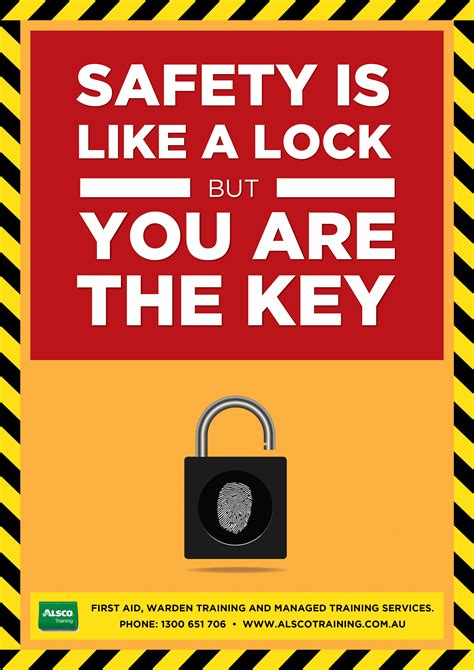You Are The Key To Your Safety workplace safety posters downloadable and printable