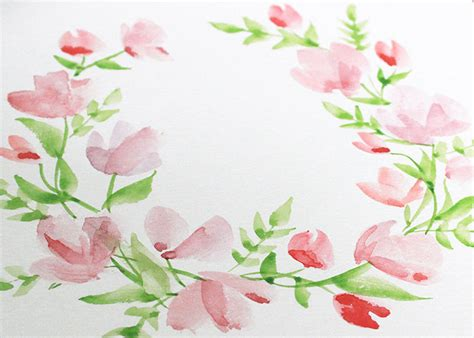 watercolor wreath tutorial paint with me watercolour floral wreath tutorial for